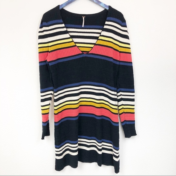 Free People Dresses & Skirts - Free People Striped Gidget Knit Sweater Dress